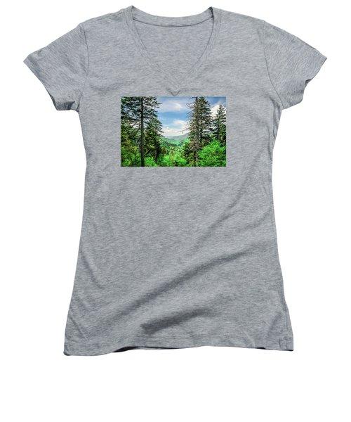 Mountain Forest Women's V-Neck
