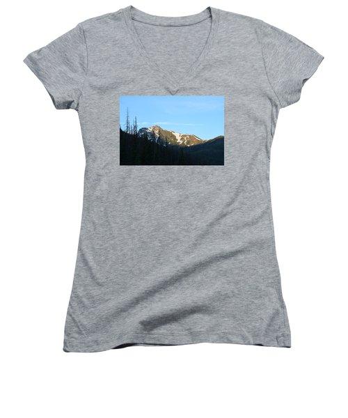 Mountain In Rocky Mountian Np Co Women's V-Neck