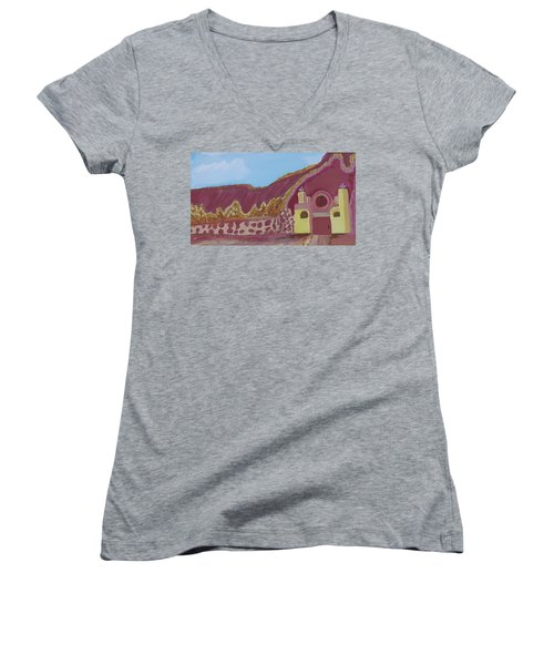 Mountain Mission Women's V-Neck T-Shirt (Junior Cut) by Don Koester