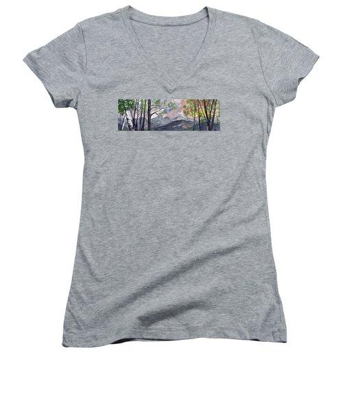 Mountain Morning Women's V-Neck T-Shirt