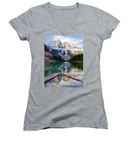 Mountain Reflections Women's V-Neck (Athletic Fit)