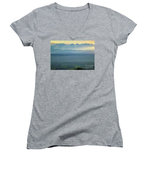 Mountain Scenery 18 Women's V-Neck