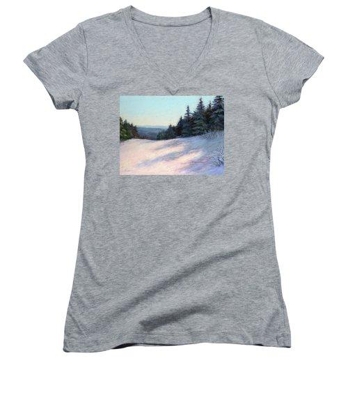 Mountain Stillness Women's V-Neck T-Shirt