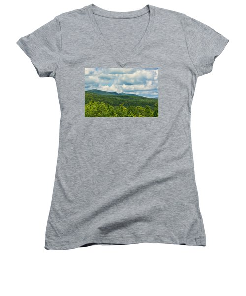 Mountain Vista In Summer Women's V-Neck