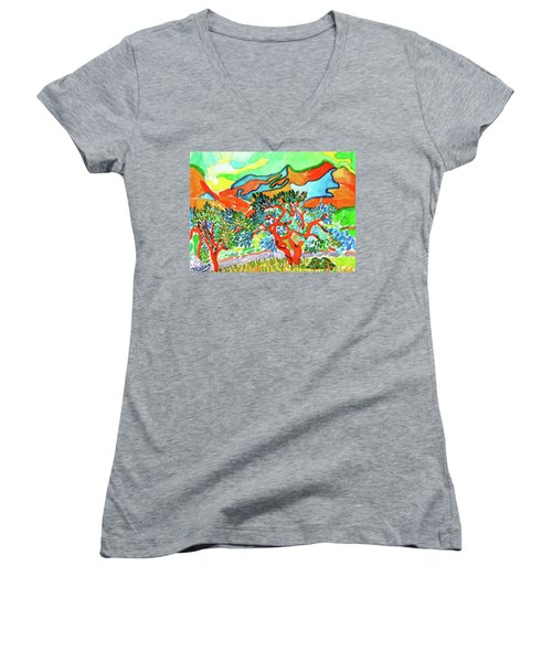 Mountains At Collioure Women's V-Neck