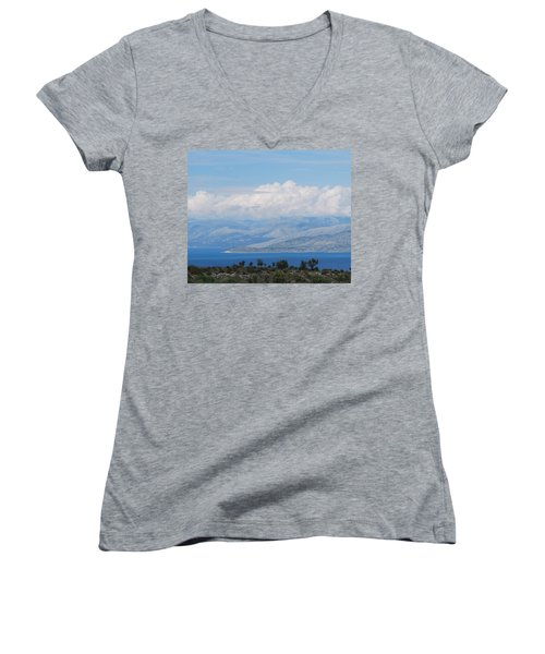Mountains Far Away  3 Women's V-Neck (Athletic Fit)