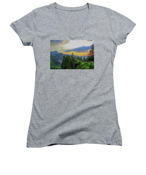 Mountains Tatry National Park - Pol1003778 Women's V-Neck
