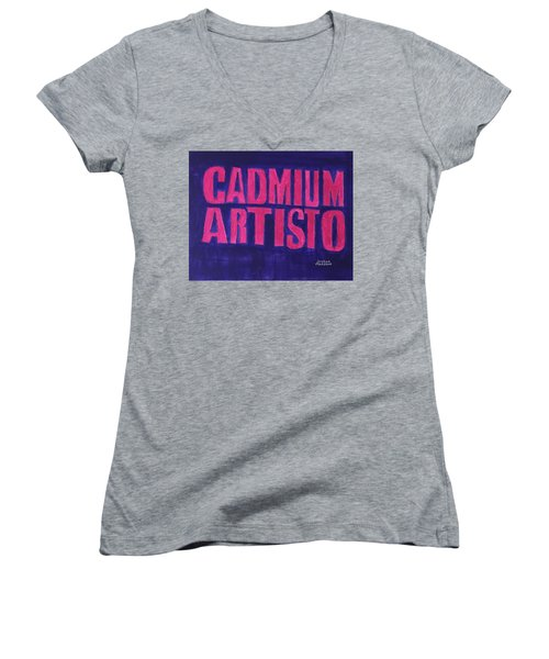 Movie Logo Cadmium Artisto Women's V-Neck T-Shirt