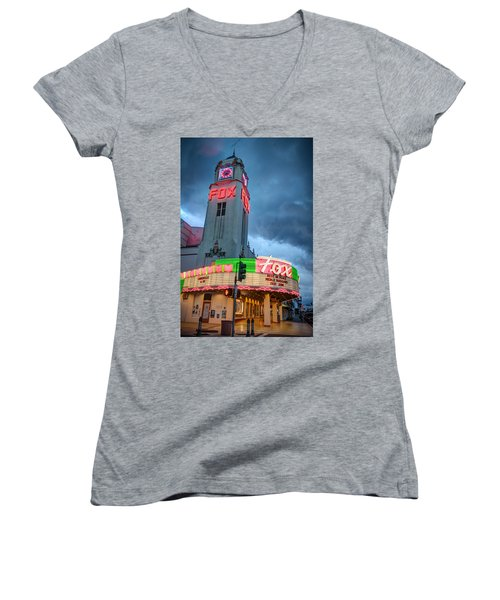 Movie Theater Tribute To Merle Haggard Women's V-Neck (Athletic Fit)