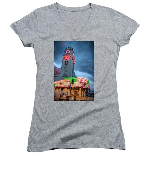 Movie Theater Tribute To Merle Haggard Women's V-Neck T-Shirt