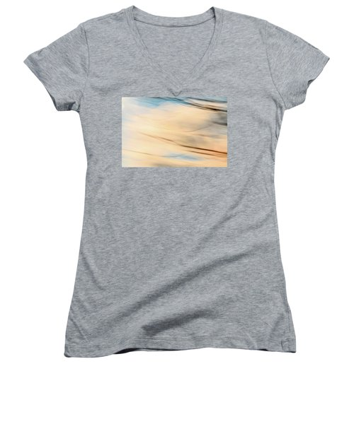 Moving Branches Moving Clouds Women's V-Neck T-Shirt