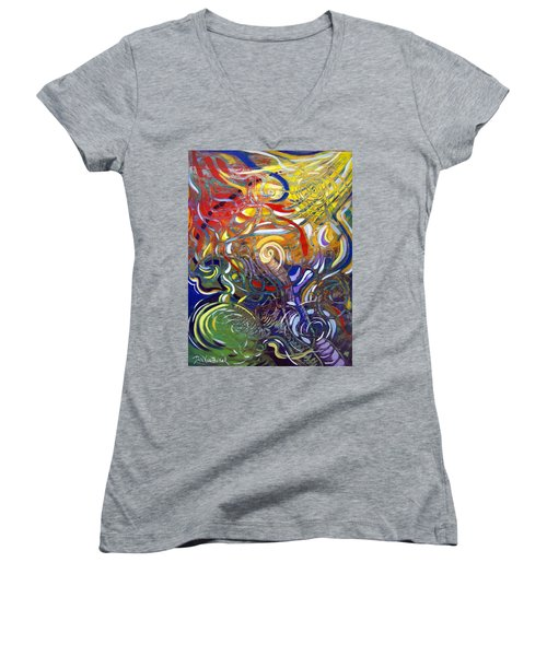Moving Color Women's V-Neck (Athletic Fit)