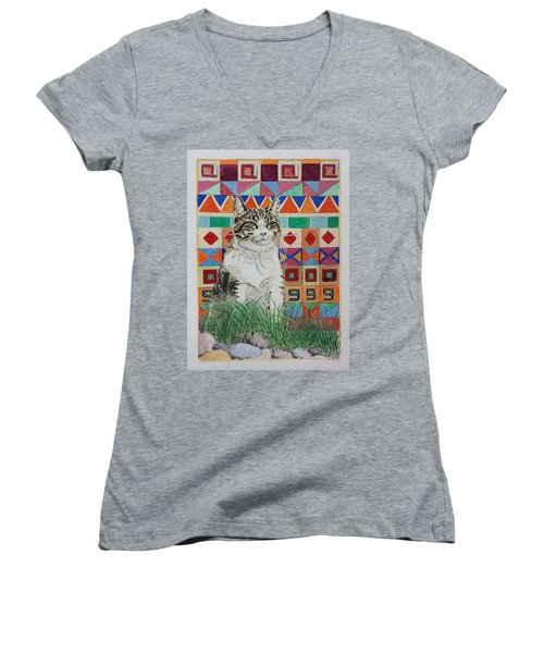 Mozart In The Grass Women's V-Neck (Athletic Fit)