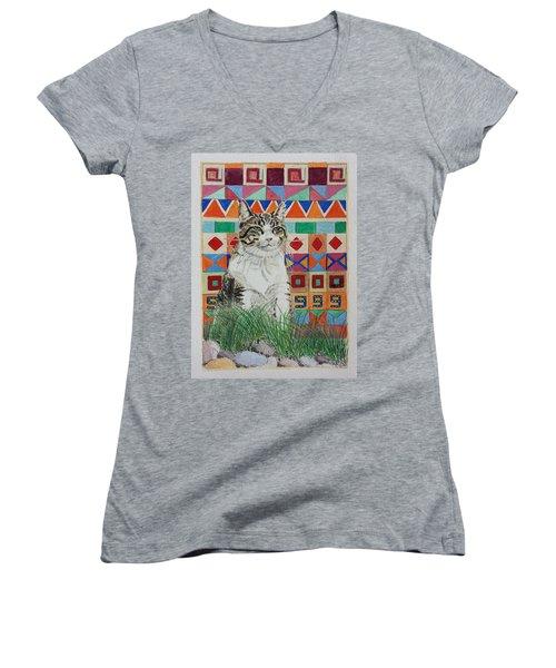 Mozart In The Grass Women's V-Neck T-Shirt