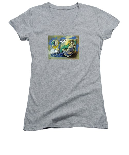 Mr Ameeba 10 Women's V-Neck T-Shirt