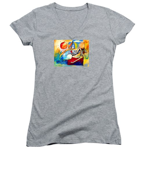 Mr Ameeba 11 Women's V-Neck T-Shirt