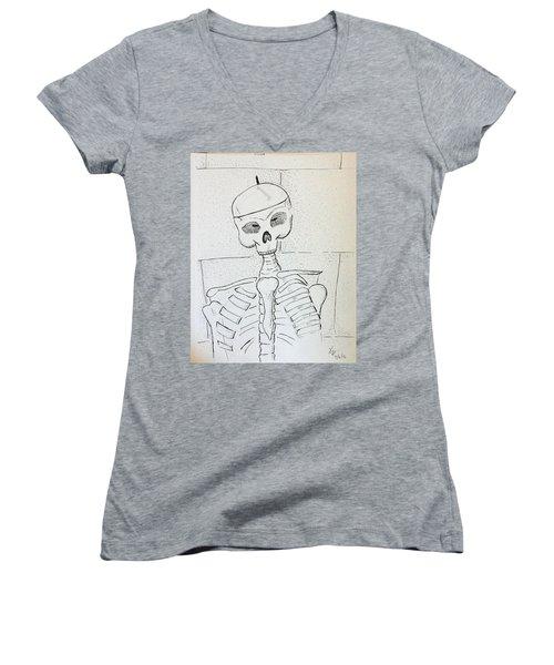Mr Cooper's Aide Women's V-Neck T-Shirt (Junior Cut) by Loretta Nash