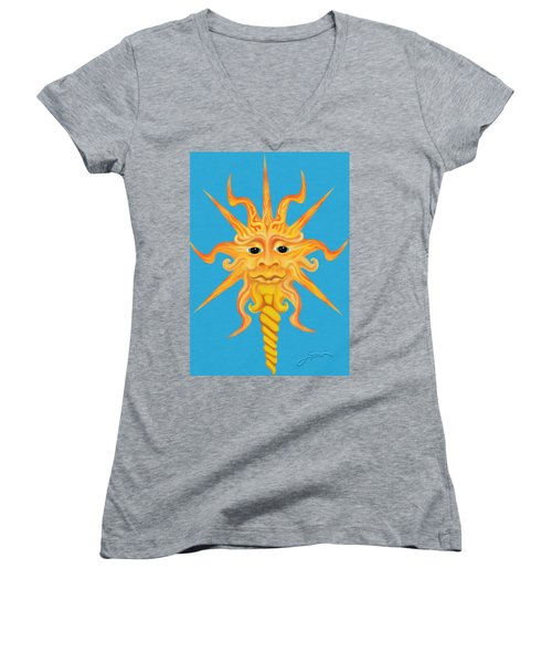 Mr. Sunface Women's V-Neck