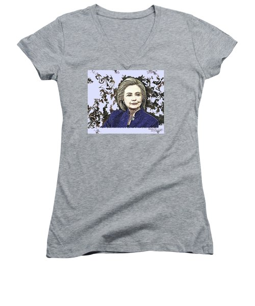 Mrs Hillary Clinton Women's V-Neck (Athletic Fit)