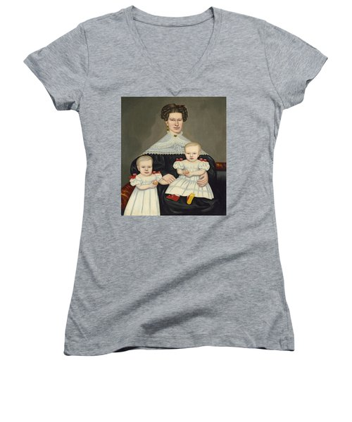 Mrs Paul Smith Palmer And Her Twins Women's V-Neck