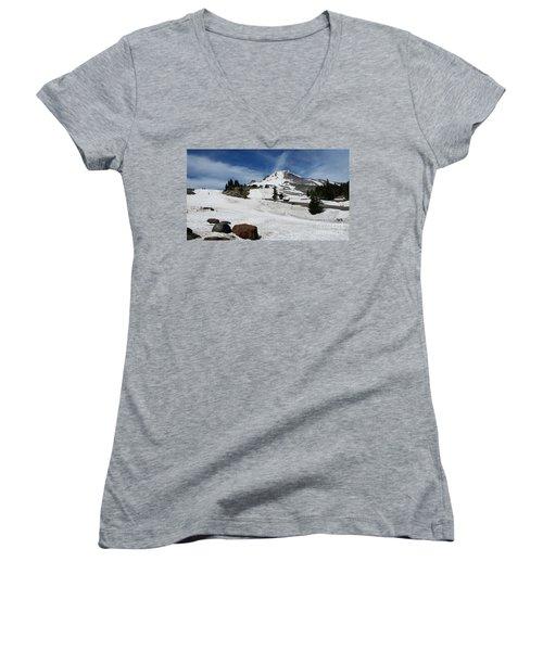 Mt. Hood In June Women's V-Neck T-Shirt