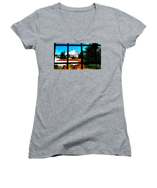 Mt. Hood View Women's V-Neck T-Shirt