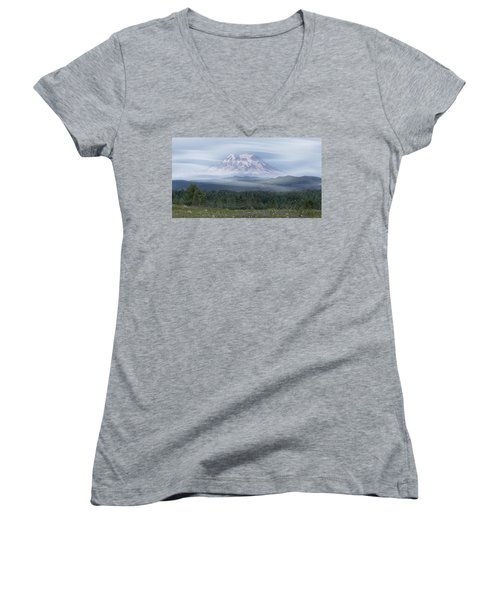 Mt. Rainier Women's V-Neck T-Shirt