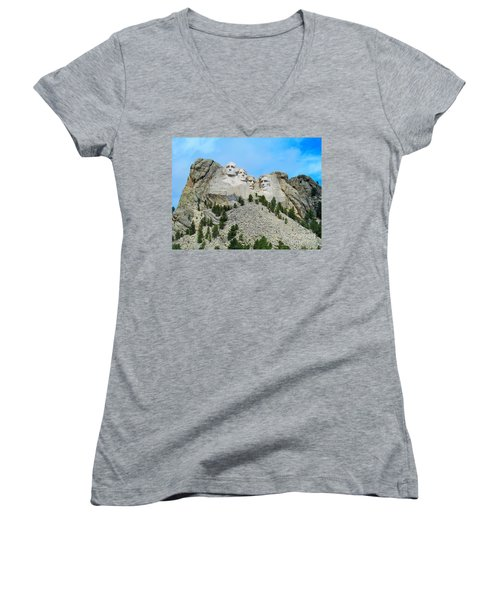 Mt Rushmore Women's V-Neck (Athletic Fit)