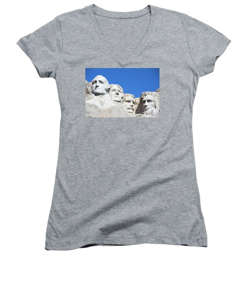 Mt. Rushmore Women's V-Neck T-Shirt