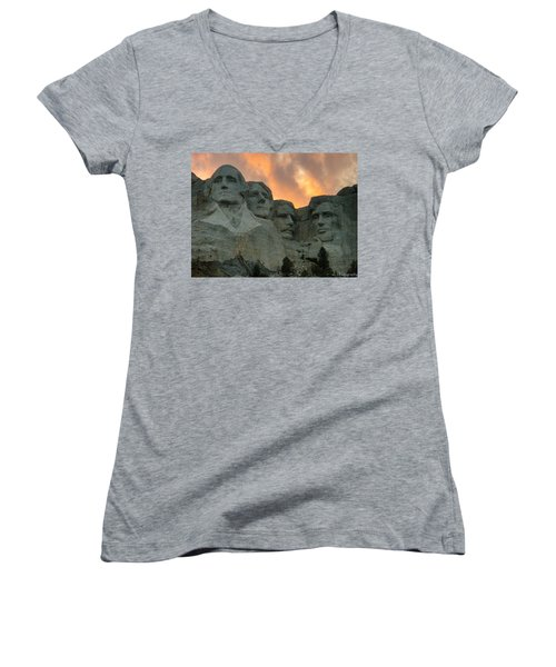 Mt. Rushmore Women's V-Neck (Athletic Fit)