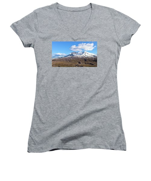 Mt Saint Helens Women's V-Neck (Athletic Fit)