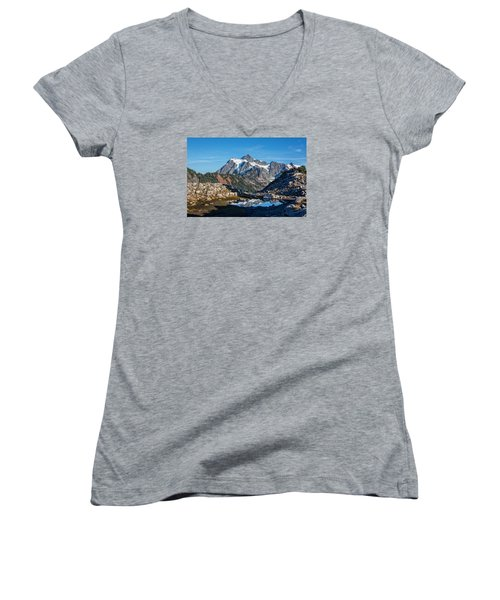 Mt. Shuksan Women's V-Neck T-Shirt