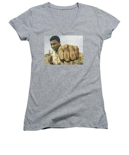 Muhammad Ali Women's V-Neck