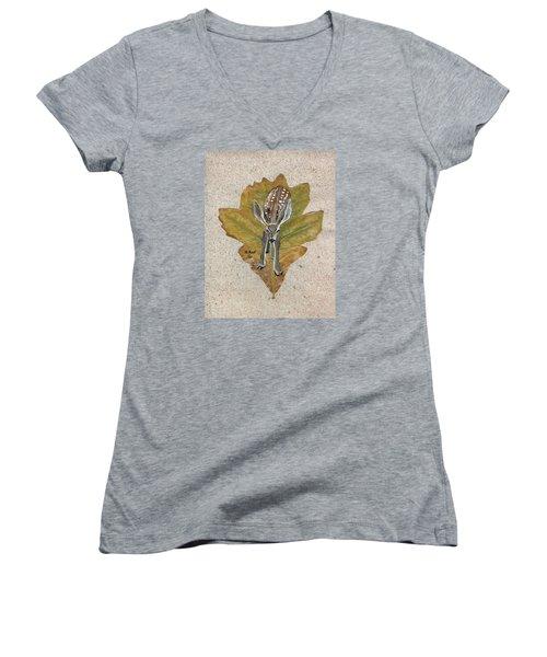 Mule Dear Fawn Women's V-Neck T-Shirt (Junior Cut) by Ralph Root