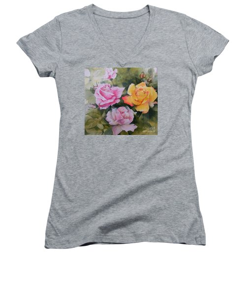 Mum's Roses Women's V-Neck T-Shirt