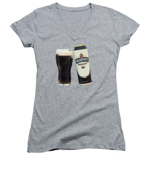 Murphys Draught Women's V-Neck T-Shirt (Junior Cut) by Ericamaxine Price