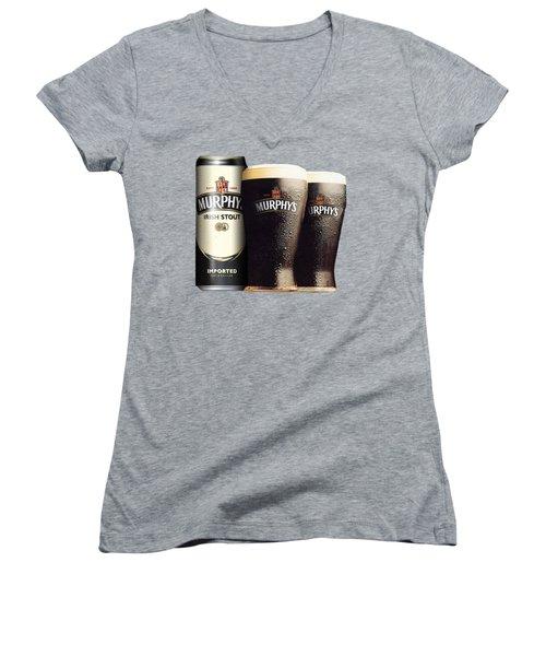 Murphys Irish Stout 2 Women's V-Neck T-Shirt (Junior Cut) by Ericamaxine Price
