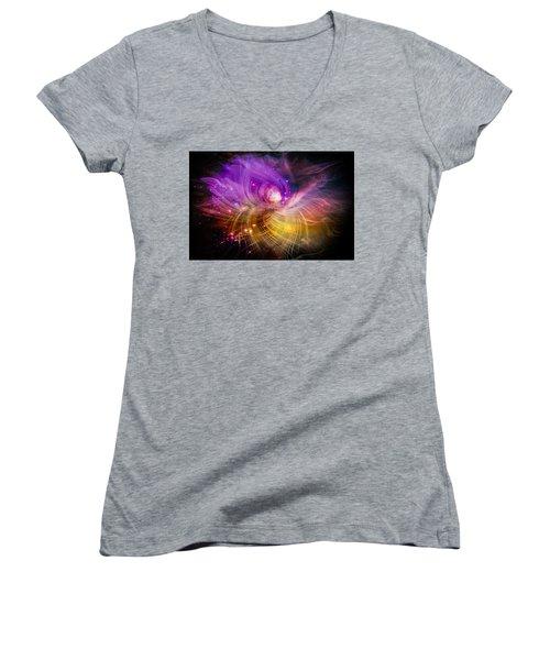 Music From Heaven Women's V-Neck T-Shirt (Junior Cut) by Carolyn Marshall
