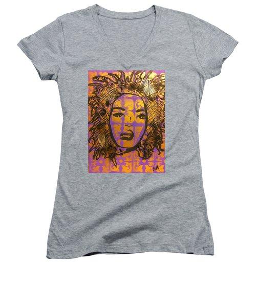Music Mother  Women's V-Neck T-Shirt (Junior Cut) by Miriam Moran