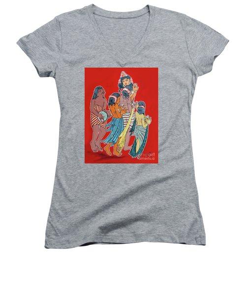 Musical Concert Women's V-Neck T-Shirt (Junior Cut) by Ragunath Venkatraman