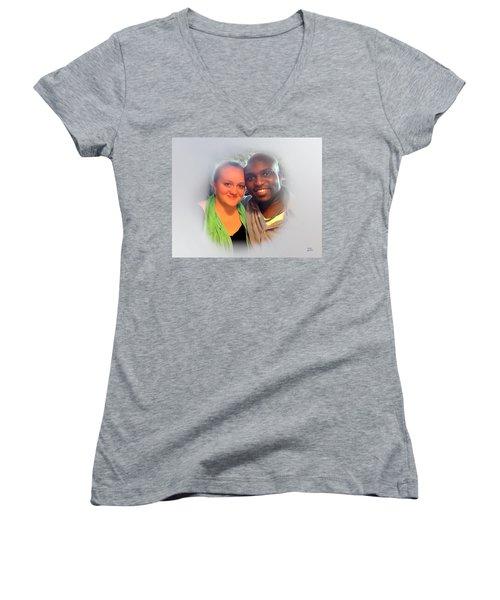 My America Women's V-Neck T-Shirt