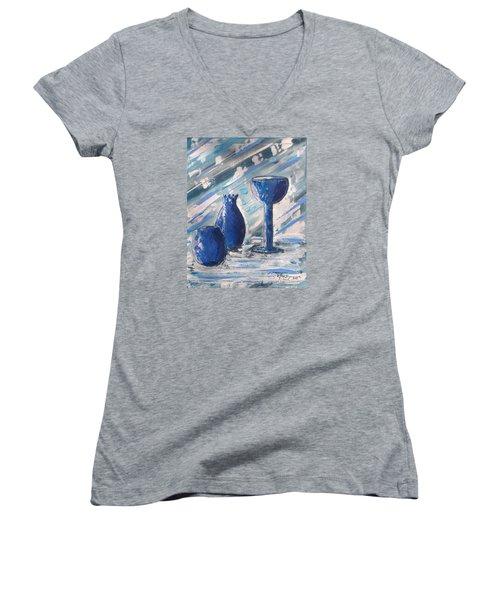 My Blue Vases Women's V-Neck T-Shirt