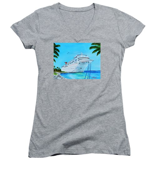 My Carnival Cruise Women's V-Neck T-Shirt