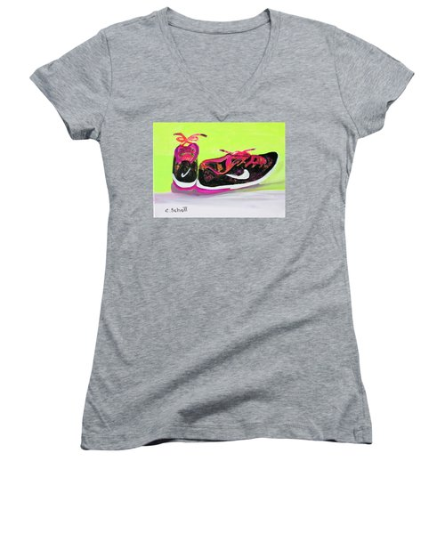 My Comfy Shoes Women's V-Neck (Athletic Fit)