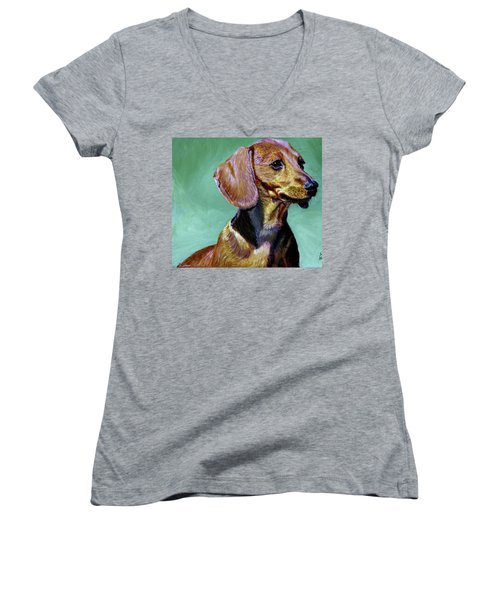 My Daschund Women's V-Neck (Athletic Fit)