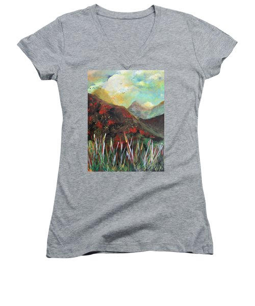 My Days In The Mountains Women's V-Neck T-Shirt