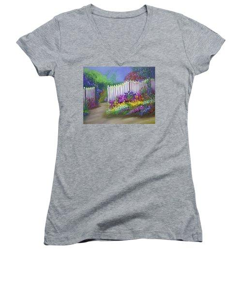 My Dream Garden Women's V-Neck T-Shirt