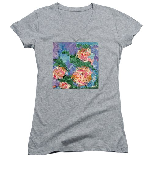 My Father's Roses Women's V-Neck (Athletic Fit)
