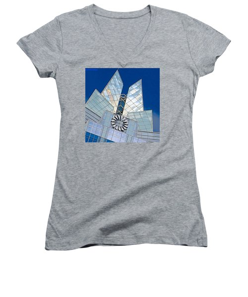 My Favorite #building In #myhometown Women's V-Neck T-Shirt
