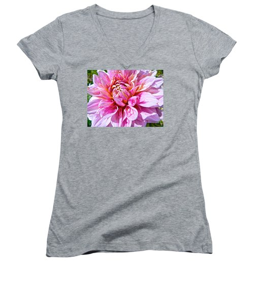 My First Dahlia Women's V-Neck (Athletic Fit)